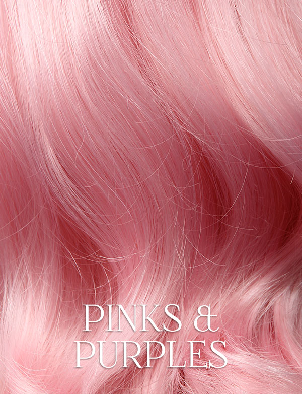 Pinks & Purples Lace Front Wigs