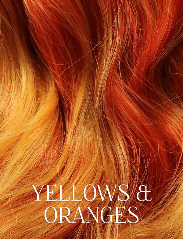 Yellows & Oranges Lace Front Wigs